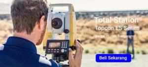 Jual Harga Murah Total Station Topcon es-65 akurasi 5 detik Laser ada