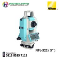 Jual Total Station Nikon NPL 322 Reflectorless 2-Second Accuracy Harga Murah,